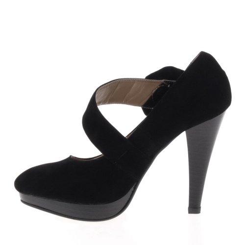 Ital-Design - Zapatos de vestir para mujer Negro - negro