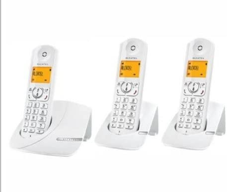 Alcatel F 370 TRIO - Juego de 3 teléfonos fijos inalámbricos con pantalla (importado): Amazon.es: Electrónica
