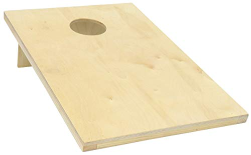 Pennsylvania Woodworks Cornhole Game Set :: 2 Solid Wood Corn Toss Boards + 8 Corn Filled Bean Bags :: Tailgate Size, Weather Resistant Finish, 30'' x 24'' :: Slim, Foldable & Portable by Pennsylvania Woodworks (Image #1)