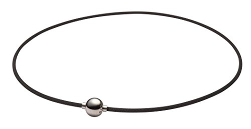 Phiten RAKUWA Necklace X100 Mirror Ball Titanium Care Designed in JAPAN [Japan Import] (15.7