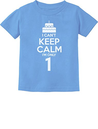 Birthday Cake - I Can't Keep Calm I'm one 1 Year Old Gift Infant Kids T-Shirt 24M California (Best Teestars Gift One Year Old Boys)