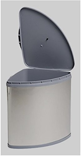 Filinox 82147018 - Cubo de basura (acero inoxidable, 25 l, apertura automática)