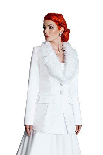 MGT-Shop - Torera - bolero - para mujer blanco
