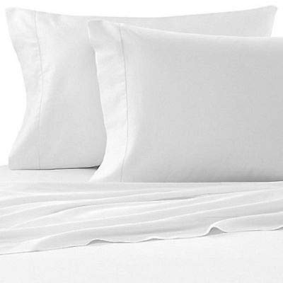 Notte By Bellino Italian Solid Hemstitch Sheet Set, King Sheet Set, White Made in Italy ()