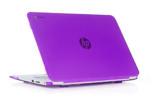 iPearl mCover Hard Shell Case for 14 HP Chromebook 14 G2 Series (14-Q010NR 14-Q020NR 14-Q029WM 14-Q030NR 14-Q070NR, etc) laptops (Purple)