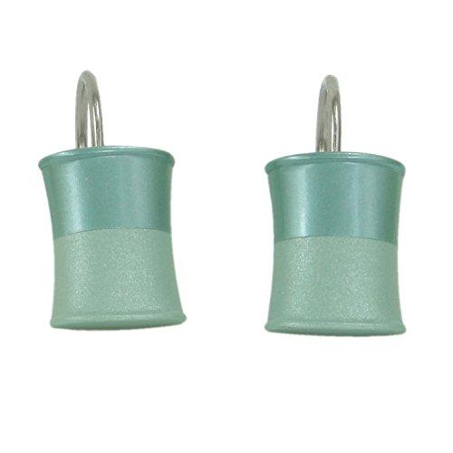 Price comparison product image Jessica Simpson Kensley shower curtain ring set Aqua