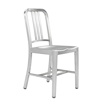 set of 2 brushed anodized aluminum modern salem side dining chair rh amazon ca
