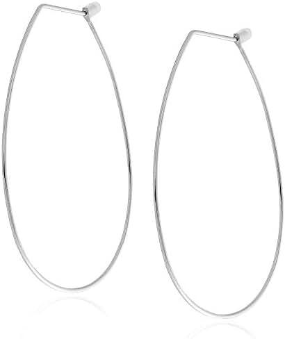 Free Spirit Silver Oval Hoop Earring