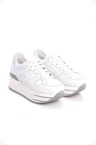 Hogan Sneakers H346 Maxi In Pelle Bianca, Damen.