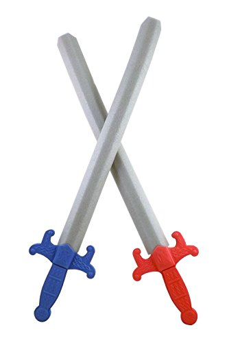 Giant Foam Great Swords 2 Pack Warrior Weapons Toy Set for Kids + Red Sword and Blue Sword