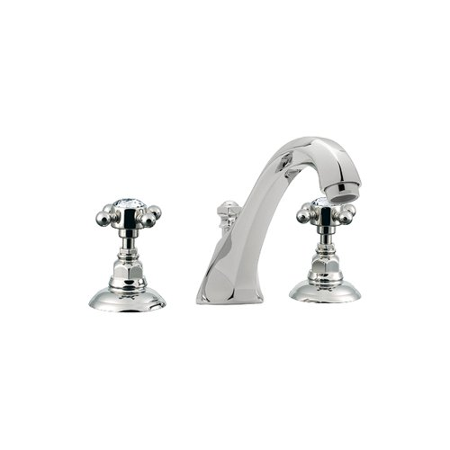 Rohl A1884XCAPC Country Bath Tub Filler Faucet with Swarovski Crystal Cross Handles, Polished Chrome - Swarovski Crystal Cross Handles