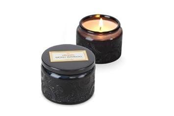 Amazoncom Voluspa Small Glass Jar Candle Moso Bamboo 32 Oz Beauty