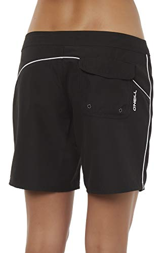 O'Neill Women's Water Resistant Stretch Swim Boardshort - 2, 3, or 5 Inch Inseam (Black/Salt Water Solids - 5 Inch, ()