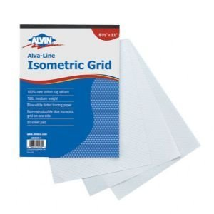 amazon com 3 pack non repro iso grid pds 8 5x11 drafting