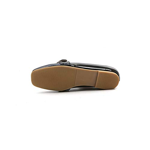 Walking Black Shoes SDC05931 Travel Solid AdeeSu Toggle Womens Casual Urethane vxqTYz