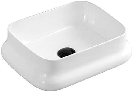 BoPin バスルームの洗面台、(タップ無し)碗型セラミックカウンターバニティ家庭技術流域単一流域、利用可能な3つのサイズ ベッセルシンクシンク (Size : 52X36.5X13.5cm)
