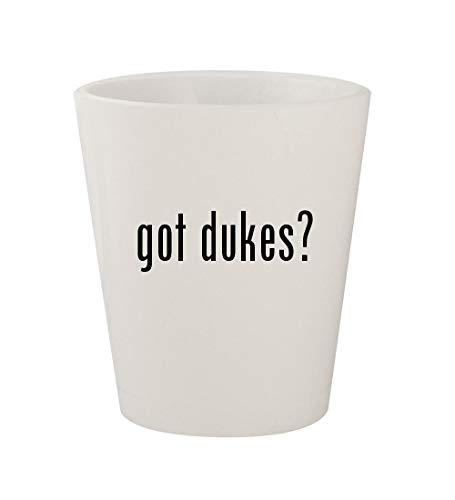 got dukes? - Ceramic White 1.5oz Shot Glass (Daisy Duke Calendar)