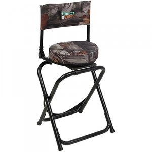 hunter hank camo folding hunting swivel stool with back sports outdoors. Black Bedroom Furniture Sets. Home Design Ideas