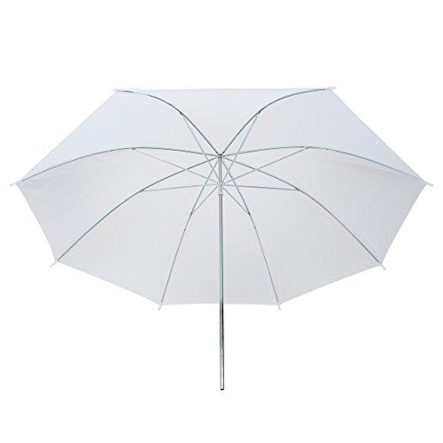 uxcell White Soft Umbrella, Flash Translucent White Soft Umbrella for Photography Video Studio, 43'' by uxcell