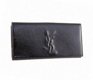 2f218284bdb8 Amazon.co.jp: イブサンローラン Yves Saint Laurent YSL 長財布 ロゴ ...