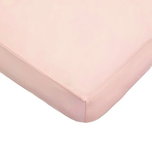 Supreme Crib Mattress - American Baby Company Supreme 100% Natural Cotton Jersey Knit Fitted Crib Sheet for Standard Crib and Toddler Mattresses, Blush Pink, Soft Breathable, for Girls