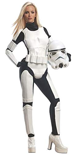 Sexy Vader Costumes - Rubie's Star Wars Female Stormtrooper, White/Black,