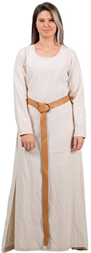 Calvina Costumes Lena Medieval Costume Underdress Made in Turkey, S-Natural