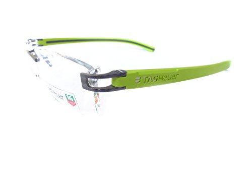 Tag Heuer eyeglasses frame model TH7643 014 Lime Green/Dark Gray