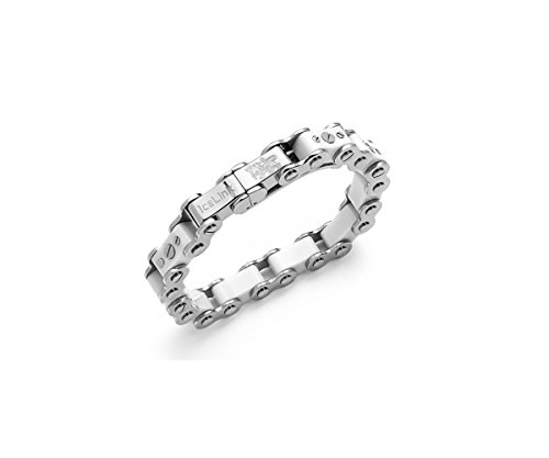IceLink White Bicycle Link Thick Bracelet (8.5)
