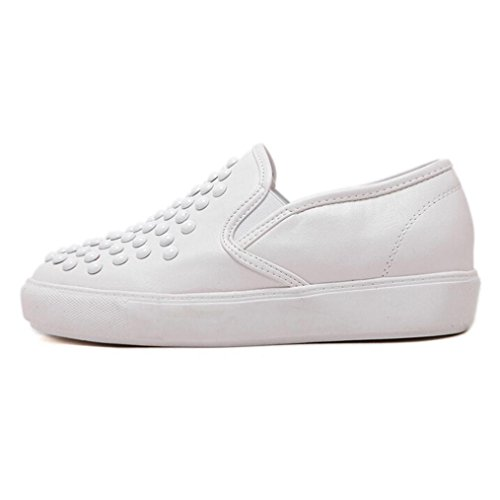 Leather Footwear Womens Flat Work Ladies Trainers White Shoes Brogues Loafers Rivets Sole Clode® Chunky School Faux Sneakers gdIERdwxq