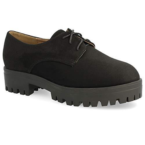Altura Tipo Cordones con tac de Plataforma del Zapato Redondos con Blucher Goma xHawFOzO