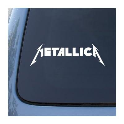 METALLICA - Vinyl Decal Sticker #A1356 | Vinyl Color: White: Automotive