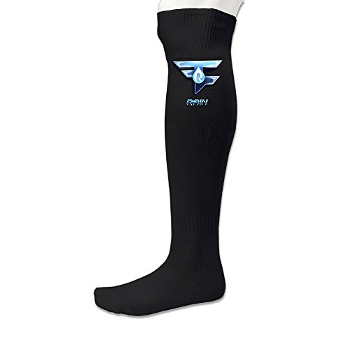 101Dog Casual Wear Faze Rain Logo Athletic Compression Socks Black