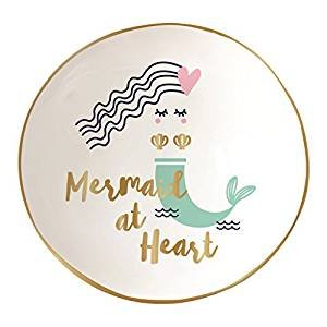 Slant Collections Round Trinket Tray - Mermaid at Heart