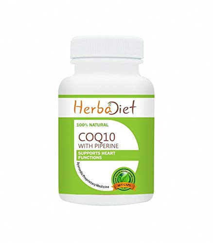 Coq 10 Coenzyme Q10 Vegan 200mg Capsules Anti-Aging Cardiovascular Heart Health (2 Capsules) by Herbadiet (Image #2)