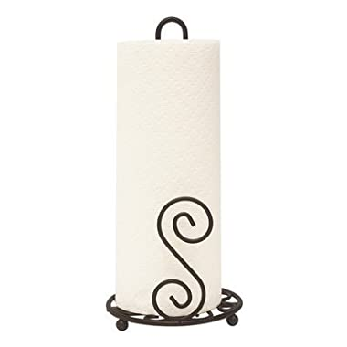 Home Basics Scroll Collection Paper Towel Holder