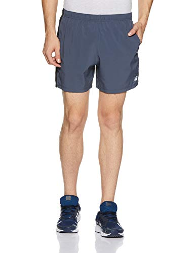 New Balance Mens Accelerate 5 Inch Short, Thunder, Medium
