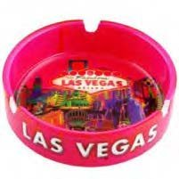 Las Vegas Ashtray Pink Solar Ceramic 37017