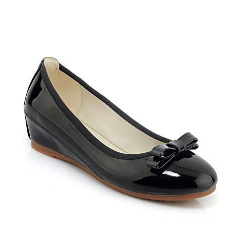 Negro Sandalias Mms06398 1to9 Mujer Con Cuña gzOgwqR