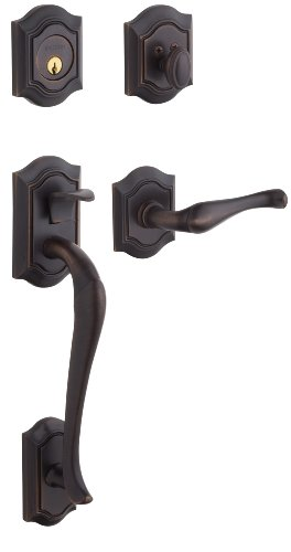 - Baldwin 85327.112.RENT Bethpage Sectional Trim Right Hand Handleset with Bethpage Lever, Venetian Bronze