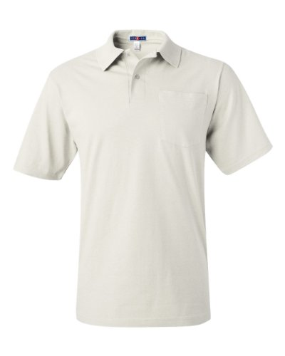 JERZEES ADULT JERSEY POLO WITH SPOTSHIELD (WHITE) (5XLARGE)