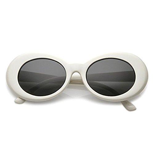 Aigemi 2018 Unisex Bold Retro Oval Classic Sunglasses Clout Goggles (White / - Sale Goggle
