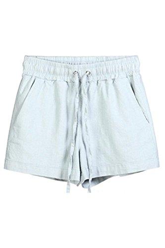 Colori Donna Pantaloni Spiaggia Eleganti Grazioso Vintage Women Hotpants Shorts Casual Con Pantaloncini Estivi Elastica Grey Corti Solidi Yasminey Vita Giovane Sciolto Coulisse Fashion ZvHqWEn