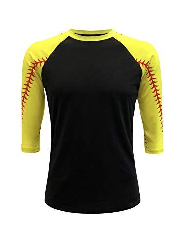 - ILTEX Baseball Softball Raglan Tshirt Jersey (Softball, Small)
