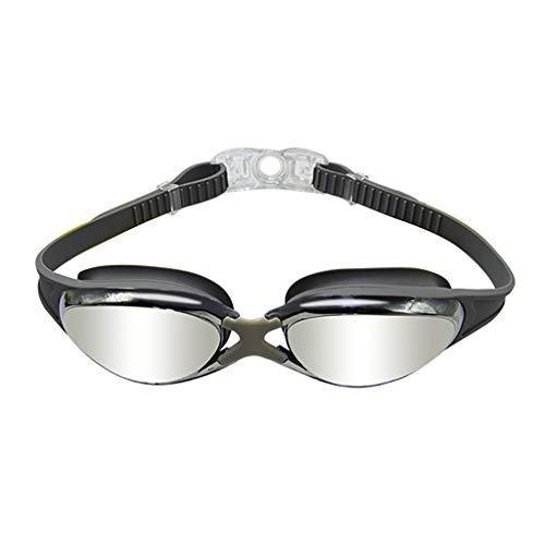 Flurries  HD Swimming Goggles - Underwater Glasses No Leak Wide View - UV Protection & Anti-Fog Lenses - Flexible Nose Bridge - Buckle Easy to Take Off for Adult Men Women Youth (Gray)