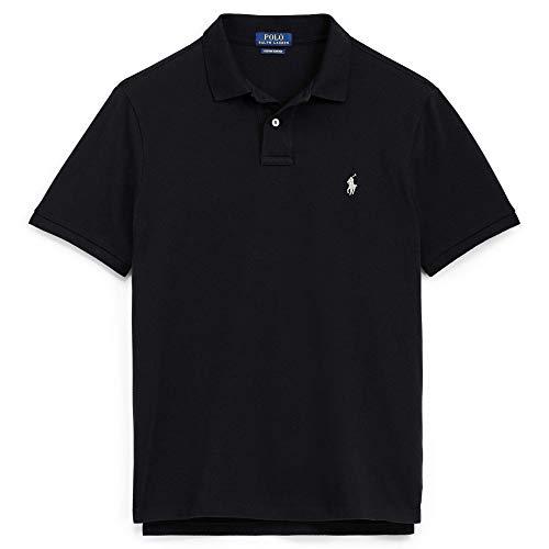 - Cotton Mesh Custom Slim Fit Polo (Black, M)