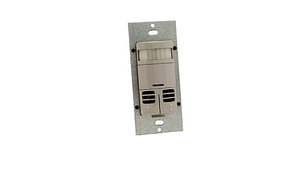 Leviton ossmd-mdg Decora estilo - Interruptor de pared PIR Detector de movimiento ultrasónico/Auto/manual-on apagado automático para ...