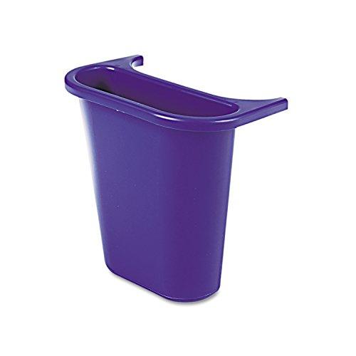 Rubbermaid Commercial Recycling Side Bin, Blue, FG295073BLUE