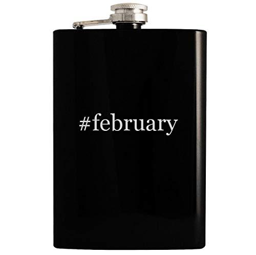 Price comparison product image #february - Black 8oz Hashtag Hip Drinking Alcohol Flask