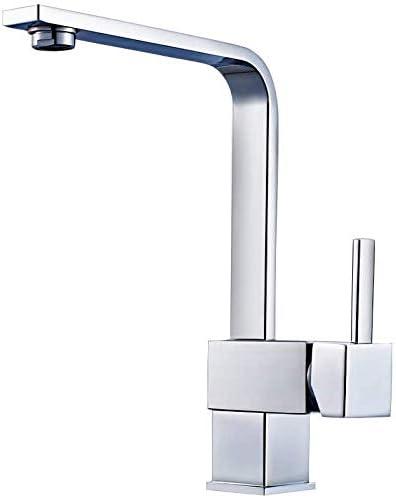 Dmqpp Wasserfall Küchen-Mischbatterie, Einhand-einzelne Loch-Küche-Wannen-Hahn, Chrom-Finish Wasserhahn